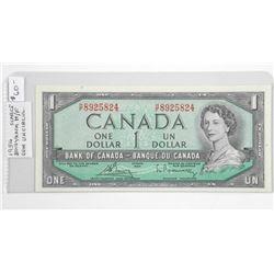 (LUN 24) 1954 Canada 1.00 Scarce (HF) GEM UNC (CE)