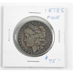 (LUN 06) 1878 (S) USA Silver Morgan Dollar. Fine (