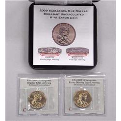 2009 Sacagawea Mint Error BU $1 Coin Missing Lette