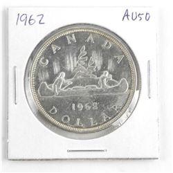 1962 Canada Silver Dollar AU50