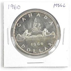 1960 Canada Silver Dollar MS62