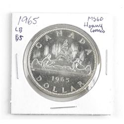 1965 Canada Silver Dollar MS60. LB B5 Heavy Cameo