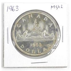 1963 Canada Silver Dollar MS62