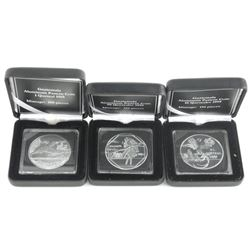 Guatemala Aluminum Pattern Lot (3) Coins 1995 3pc Set 1,10 and 50 Quetzal LE of 75 Produced