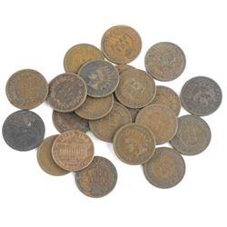 Lot (20) USA Indian Head Pennies