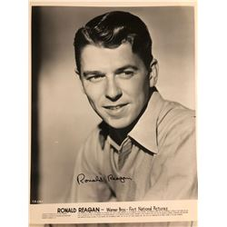 Young Ronald Reagan Signed 8x10in Photo