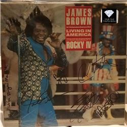 James Brown & Band Signed Living in America Dance Mix LP