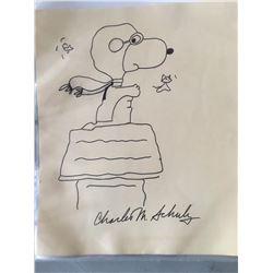 "Charles Schulz ""Snoopy"" Sketch"