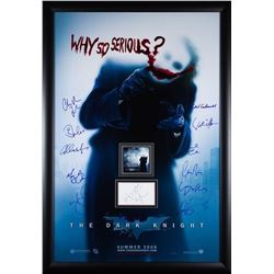 The Dark Knight Rises Signed Movie Poster