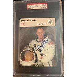 PSA/DNA Buzz Aldrin Signed Beyond Sports Card