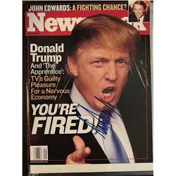 PSA/DNA Donald Trump Signed 2004 Newsweek Magazine