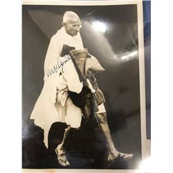 Mahatma Gandhi Signed Photo
