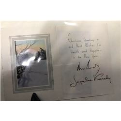 John F. and Jacqueline Kennedy Signed Christmas Card