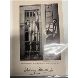 Harry Houdini Signed Photo Sheet