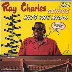 "Ray Charles Signed ""The Genius Hits The Road"" Album"