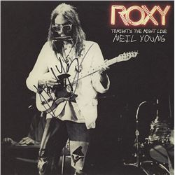 """Neil Young Signed """"Roxy: Tonight's The Night"""" Album"""