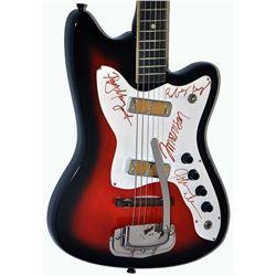 The Doors Band Signed Reddish Blackened Sunset 1950 – 1960s Harmony Vintage Guitar
