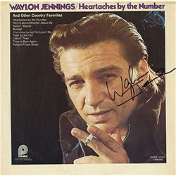 """Waylon Jennings Signed """"Heartaches By The Number"""" Album"""