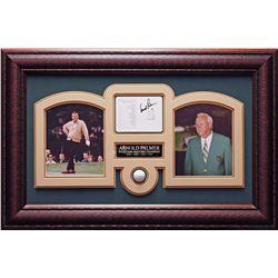 Arnold Palmer Signed & Framed Golf Card Collage