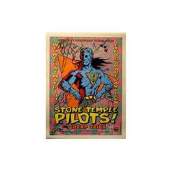 Cheap Trick & Stone Temple Pilots Signed Tour Poster