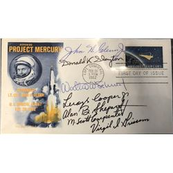Project Mercury Crew Signed Commemorative Envelope
