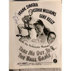 """Frank Sinatra & Gene Kelly """"Take Me Out to the Ball Game"""" Signed Poster"""