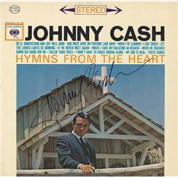 "Johnny Cash Signed ""Hymns From The Heart"" Book"