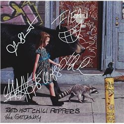 "Red Hot Chili Peppers Signed ""The Getaway Album"""