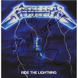 "Metallica Signed ""Ride The Lightning"" Album"