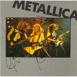 "Metallica Signed ""Interview"" Album"