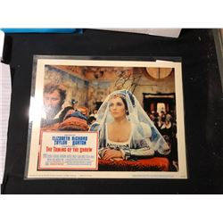 """Elizabeth Taylor """"The Taming of the Shrew"""" Signed Lobby Card"""