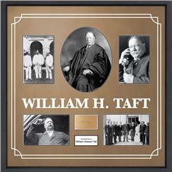 William H. Taft Framed Signature Collage