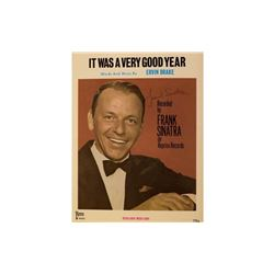 Frank Sinatra Signed Songbook