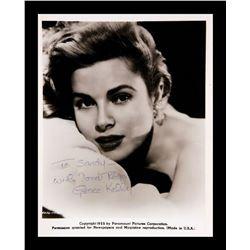 Grace Kelly Autographed Photo