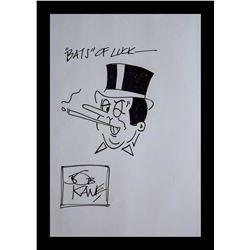 Bob Kane Drawing of the Penquin