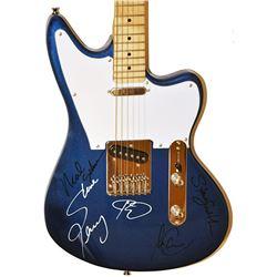 Journey Signed Light Powder Blue Vintage Guitar