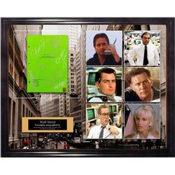 Wall Street - Signed Movie Script in Photo Collage Frame