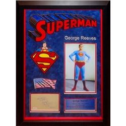 George Reeves Framed Signature Superman Collage