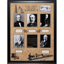 The Men Who Built America Framed Signatures Collage
