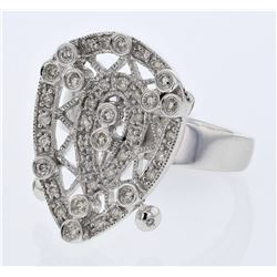 0.61 CTW Diamond Ring 14K White Gold - REF-74Y6X