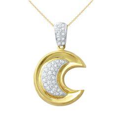 0.52 CTW Diamond Necklace 18K 2Tone Gold - REF-128H5M