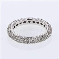 1.25 CTW Diamond Ring 14K White Gold - REF-70X2R
