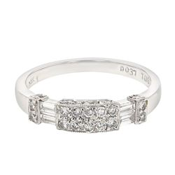 0.56 CTW Diamond Band Ring 14K White Gold - REF-51H4M