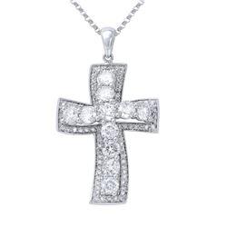 2.13 CTW Diamond Necklace 14K White Gold - REF-178N2Y