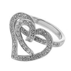 0.22 CTW Diamond Ring 18K White Gold - REF-56N9Y