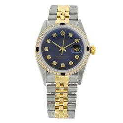 Rolex Pre-owned 36mm Mens Blue Two Tone - REF-610X2K