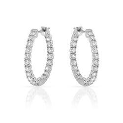 0.95 CTW Diamond Earrings 14K White Gold - REF-69Y2X