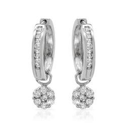 1 CTW Diamond Earrings 14K White Gold - REF-79Y2X