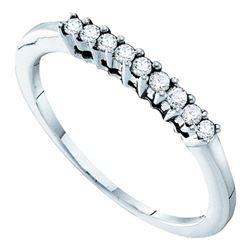 0.15 CTW Diamond 1.5mm Wedding Ring 14KT White Gold - REF-22H4M