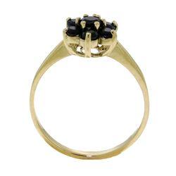Genuine 0.66 ctw Sapphire Ring Jewelry 14KT White Gold - REF-31V4W
